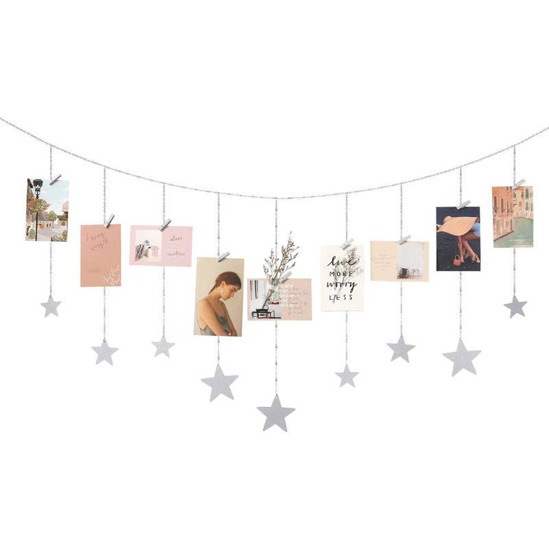 Photo Display Wood Stars Garland