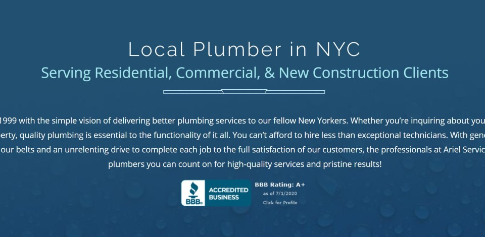 """screenshot showing how to optimize local business websites for SEO using """"[my service] + [my location]"""" titles or H1 tags - plumbing business"""