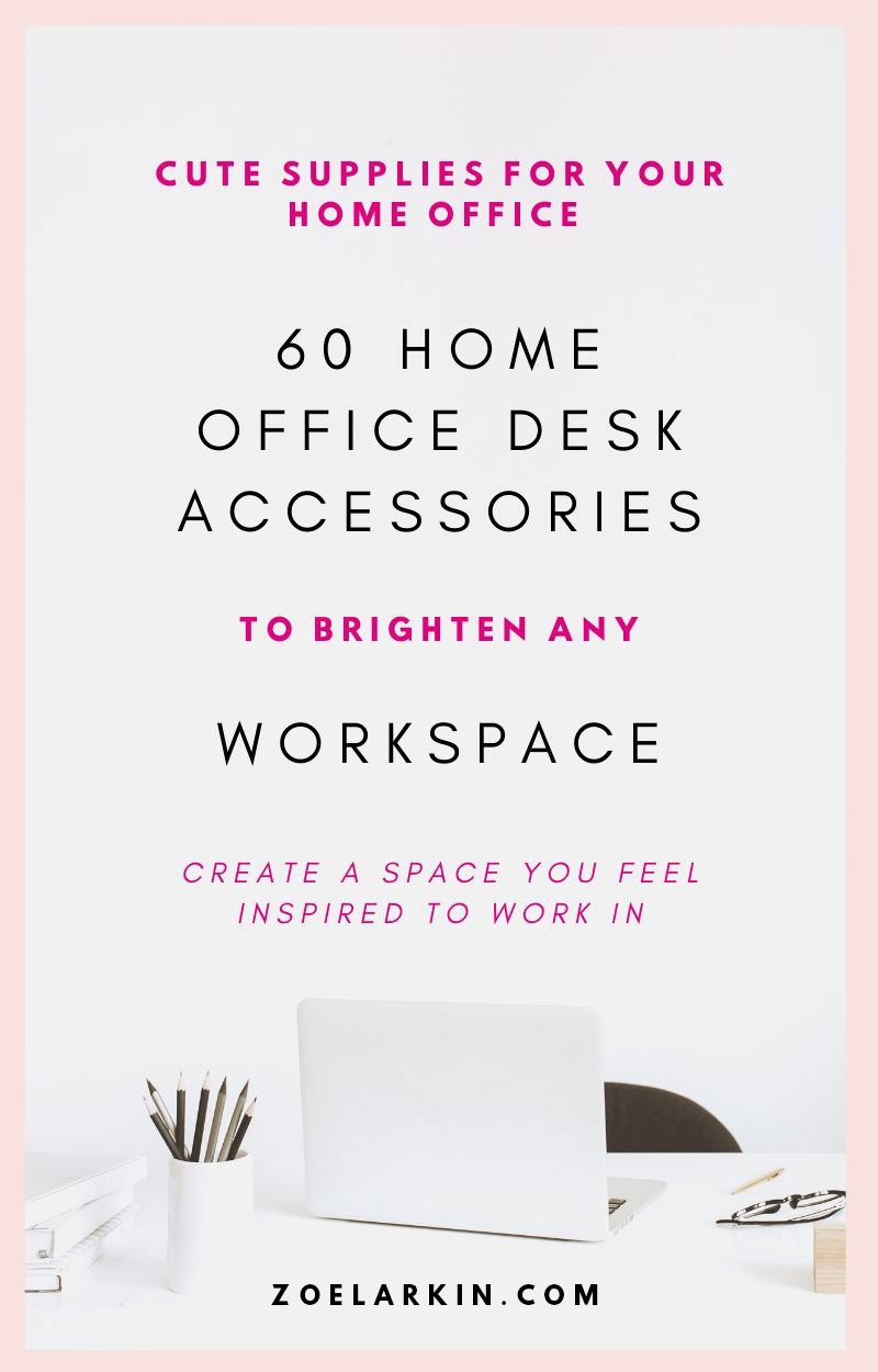 Looking for ways to brighten up your home office? These 60 cute desk/ office accessories are sure to bring a smile to your face each time you sit down to work. This list of desk supplies - all available on Amazon + priced affordably, elevate your home office. If you're a fan of cute decor, felt, concrete, geometric shapes, neutral pastel shades, faux fur and rose gold, this will give you SO much curated home office inspiration! | #officedecor #homeoffice #workingfromhome zoelarkin.com