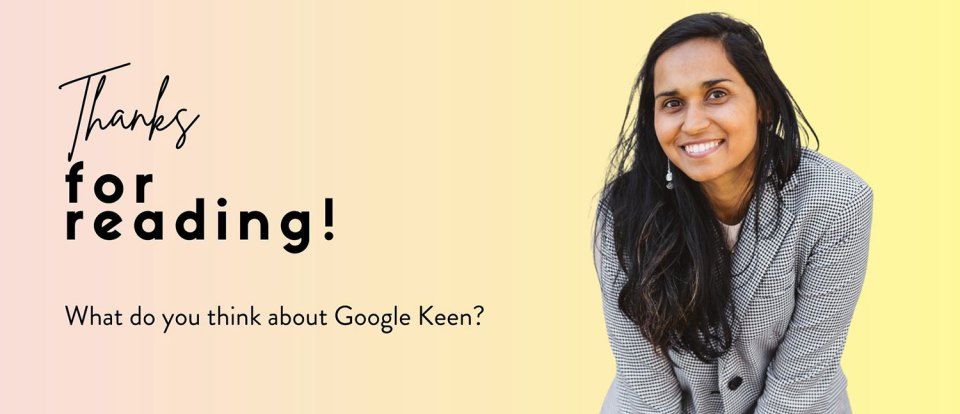 Google Keen review for small local businesses - I tried out Google's Keen to see what it does! - zoelarkin.com