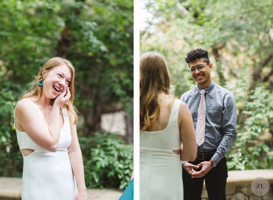 emotional outdoor wedding ceremony during covid