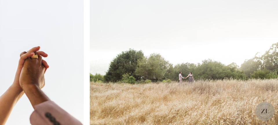 details and wide shots from a coronavirus wedding in the bay area of california