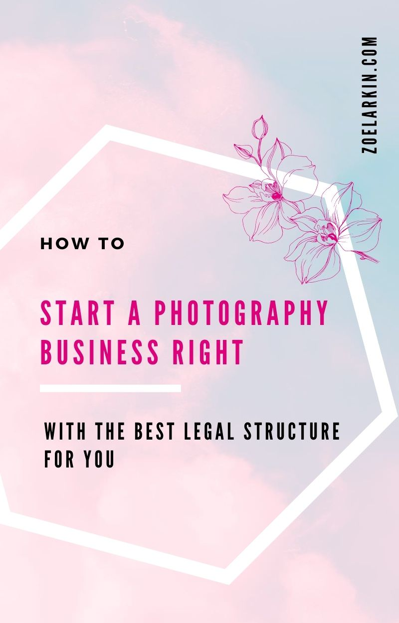 Sole proprietor vs. LLC vs. S Corp... where to begin your journey as a photographer + small business owner? In this guide, I take you through each of the legal structures for small businesses in the U from the perspective of a small business owner with real-world experience how this actually relates to your business.  Photography businesses are easy to set up with many opting for sole proprietorships to begin. Find the right choice for you here. #photography #photographybusiness | zoelarkin.com