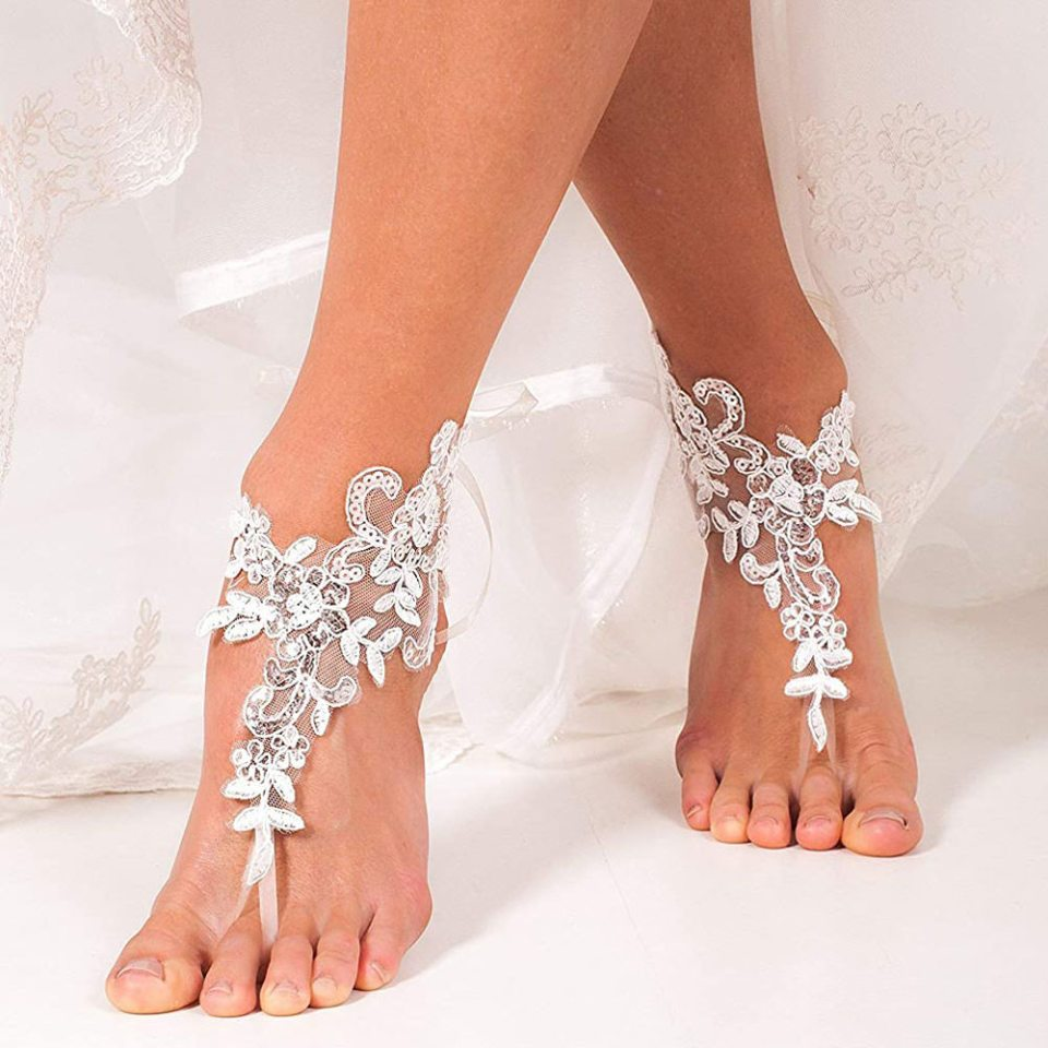 barely there bohemian style wedding sandals for boho wedding 2021