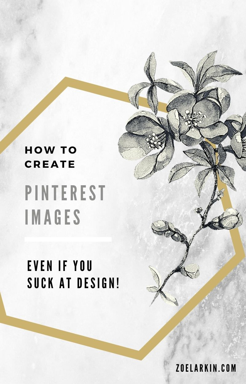 You want to create stunning Pinterest pins. But you don't have time to learn complicated software or the budget for expensive design tools.  The key to saving time when it comes to creating unique pins? Use Canva's pre-made templates. In case you're wondering how a template can possibly be unique, you will soon see how easy it is to customize. In this tutorial I'll show you exactly how to create Pinterest pin graphics! #pinterestpins #pinterestmarketing #pinterestforbusiness | zoelarkin.com