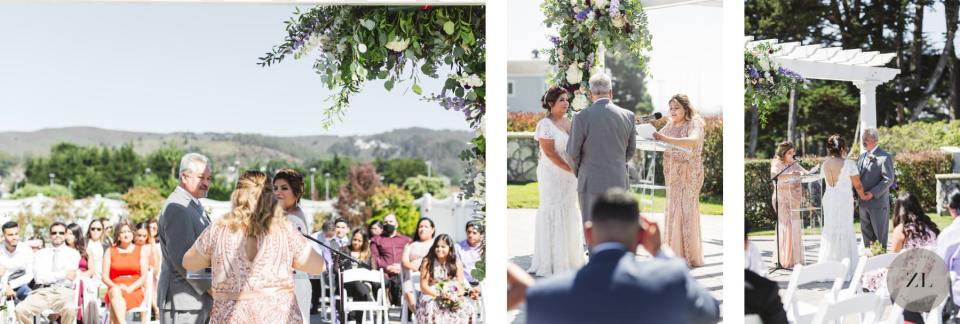 sunny wedding in September at the Oceano Hotel in Half Moon Bay, California