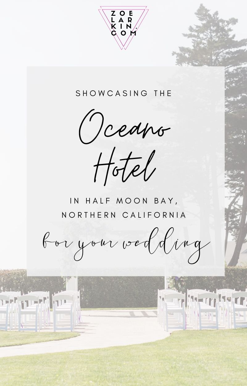 The Oceano Hotel & Spa is located in Pillar Harbor close to Half Moon Bay on the Northern California coast 25 miles south of San Francisco on the peninsula. It boasts versatile spaces for weddings & events that can suit intimate weddings as well as 300-person celebrations. With a blend of indoors and outdoors, this Bay Area wedding venue has a LOT to offer and a price tag that can't be beat. These Oceano Hotel wedding photos will make you fall in love | #bayareawedding #weddingphotographer