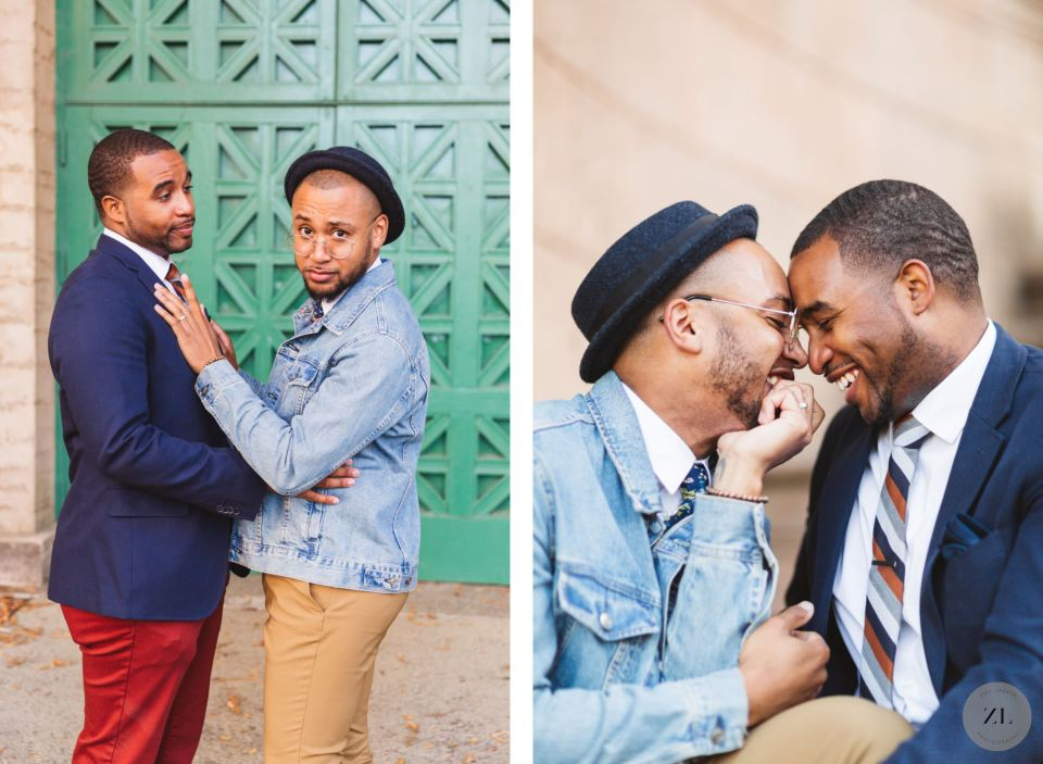 a chill LGBTQ+ engagement session at the Palace of Fine arts by Zoe Larkin Photography