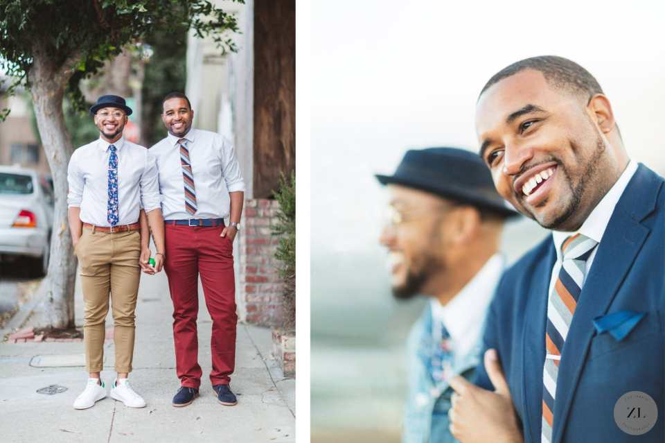 photos of LGBTQ+ couple on their engagement shoot in San Francisco, CA by Zoe Larkin photography