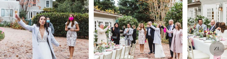 candid, natural photography at Gamble Garden wedding reception