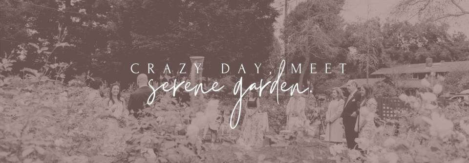 'gamble garden - Crazy Day, meet serene garden' - intimate wedding venue
