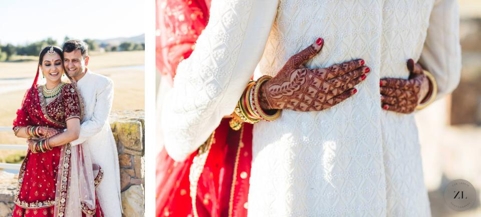 intimate wedding during covid with indian bride and groom