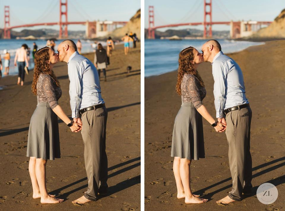 Before and after photoshop wedding photos