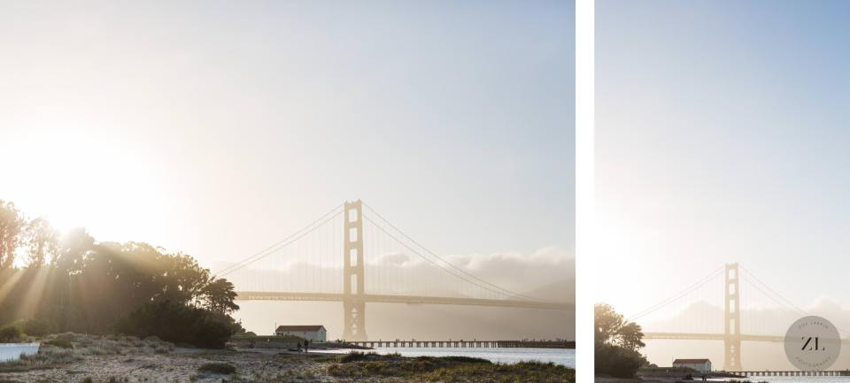 View of the golden gate bridge from Crissy Field, San Francisco
