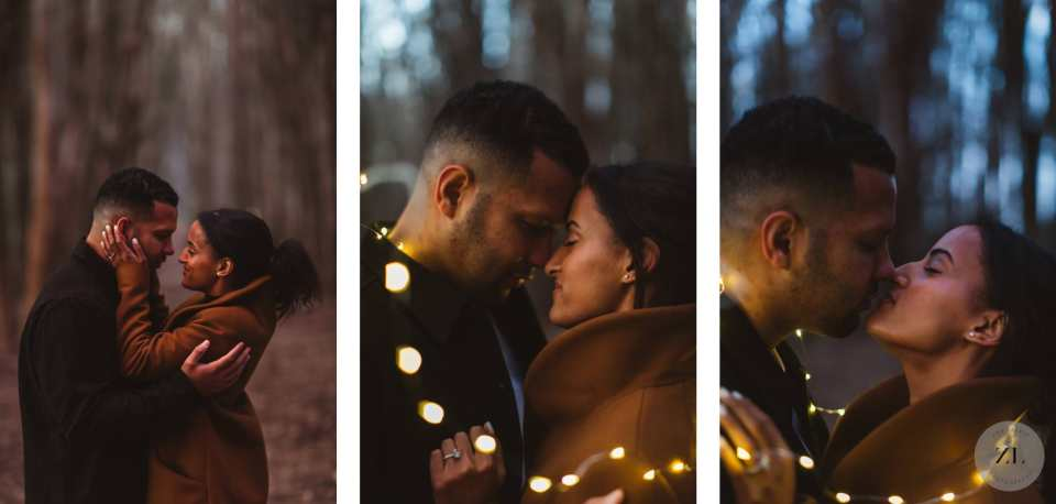 engagement photos with Black couple in San Francisco