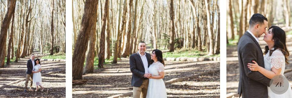 bright and airy engagement photos at Lovers' Lane, San Francisco