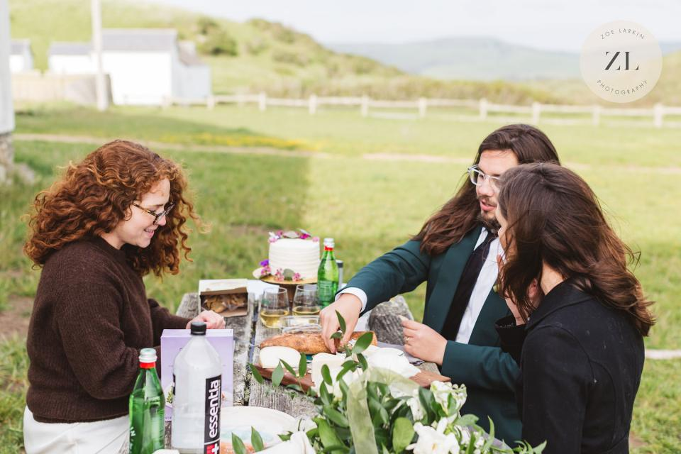 relaxed micro wedding photography in point reyes, california