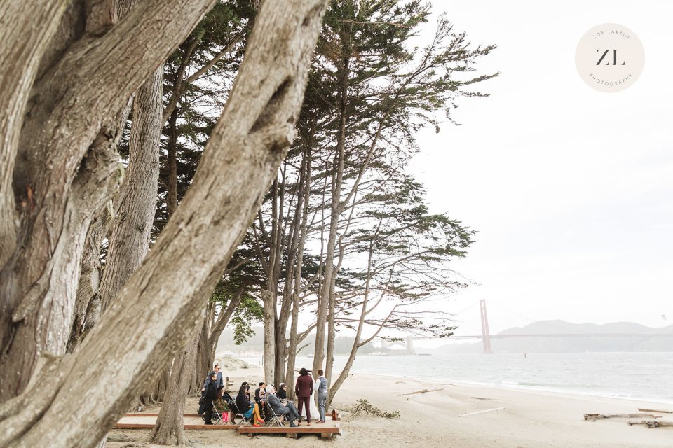 examples of a bay area micro wedding with photography near the golden gate bridge