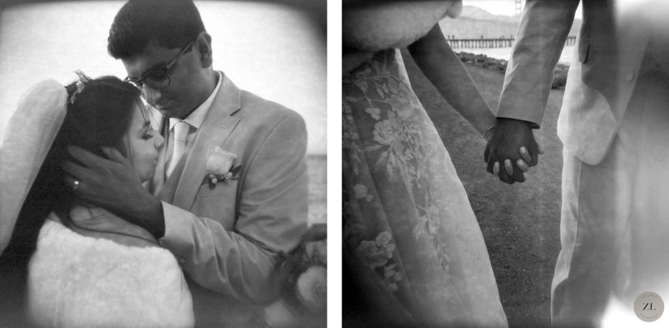 Bay Area wedding photography with black and white film and Holga 120 toy camera