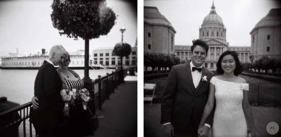 san francisco captured with Holga camera - wedding photos