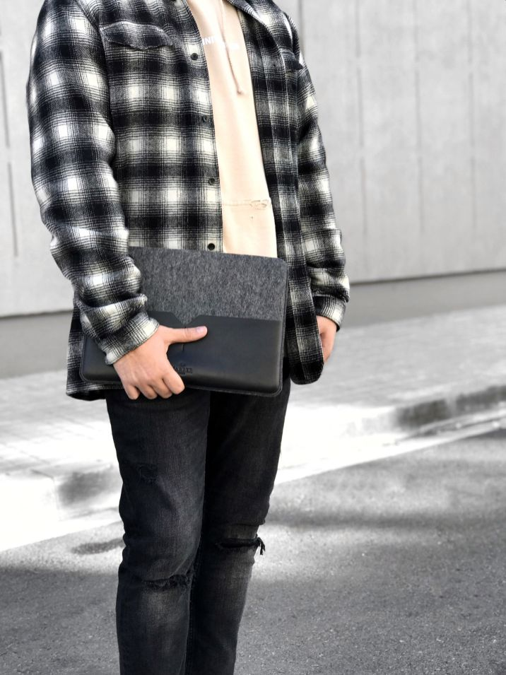 macbook sleeve harber london outfit