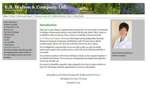 E. S. Walton & Company Ltd, Probate Department