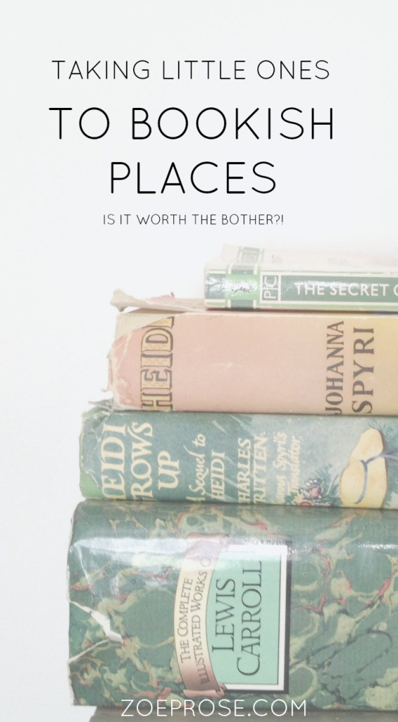 taking little ones to bookish places