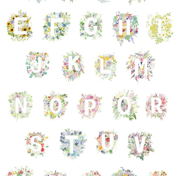 Floral Alphabet print| Zoeprose
