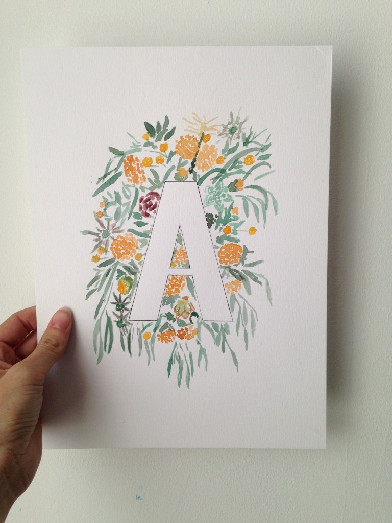 A floral alphabet print | Zoeprose
