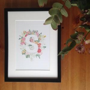 Floral Alphabet Prints