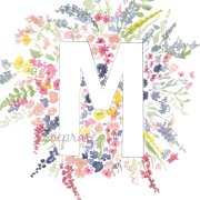 M Floral Alphabet Letter Print | Zoeprose