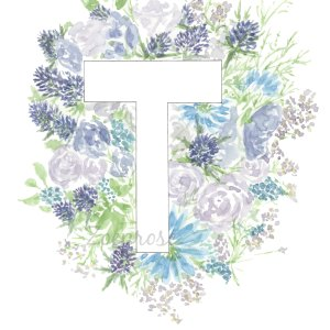 T floral alphabet print | Zoeprose