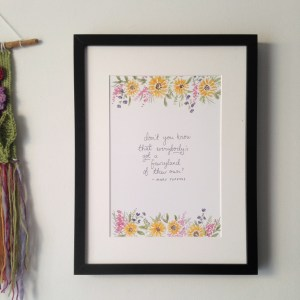 Mary Poppins Nursery Fairyland Quote | Archival Art print by Zoeprose