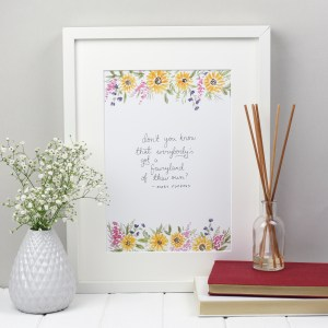 Mary Poppins Fairyland quote fairy nursery decor literary print from Zoeprose