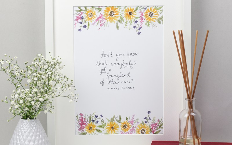 Mary Poppins Quote Fairyland Archival Print