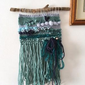 The little mermaid wall hanging   literary weaving, fairytale nautical bedroom nursery decor