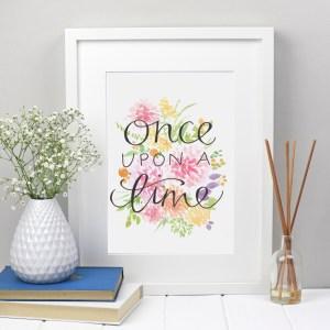 once upon a time print | Zoeprose fairytale print nursery room decor