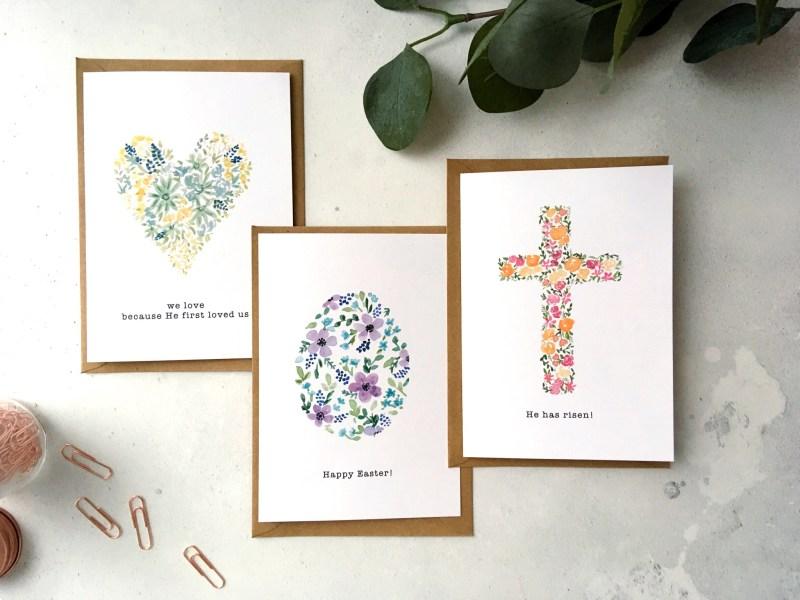 Floral Easter Cards – Set of 6