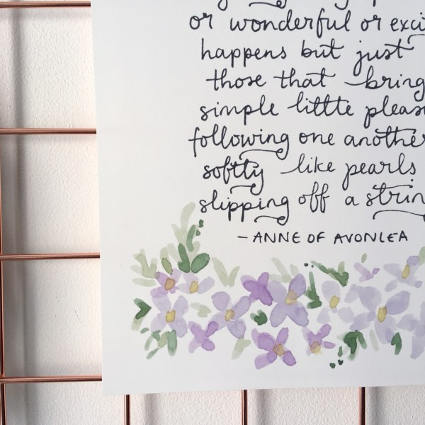 Anne of Green Gables Pearls Quote Print