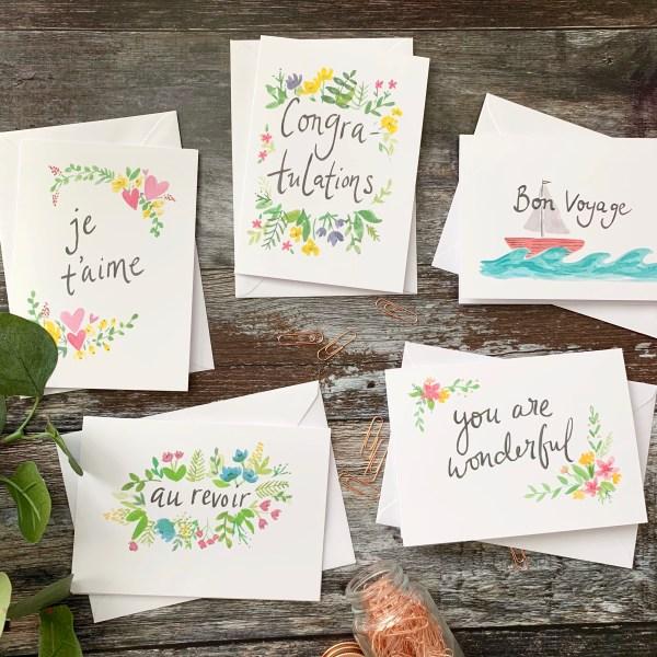 mixed greeting card set