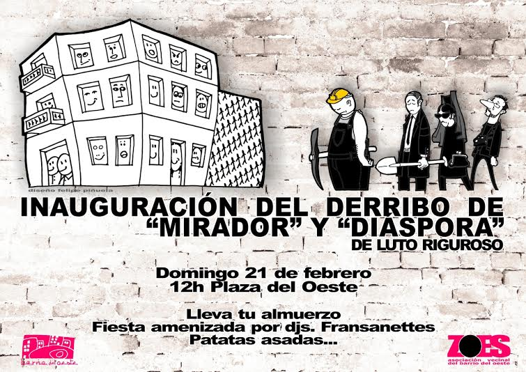 cartel derribo
