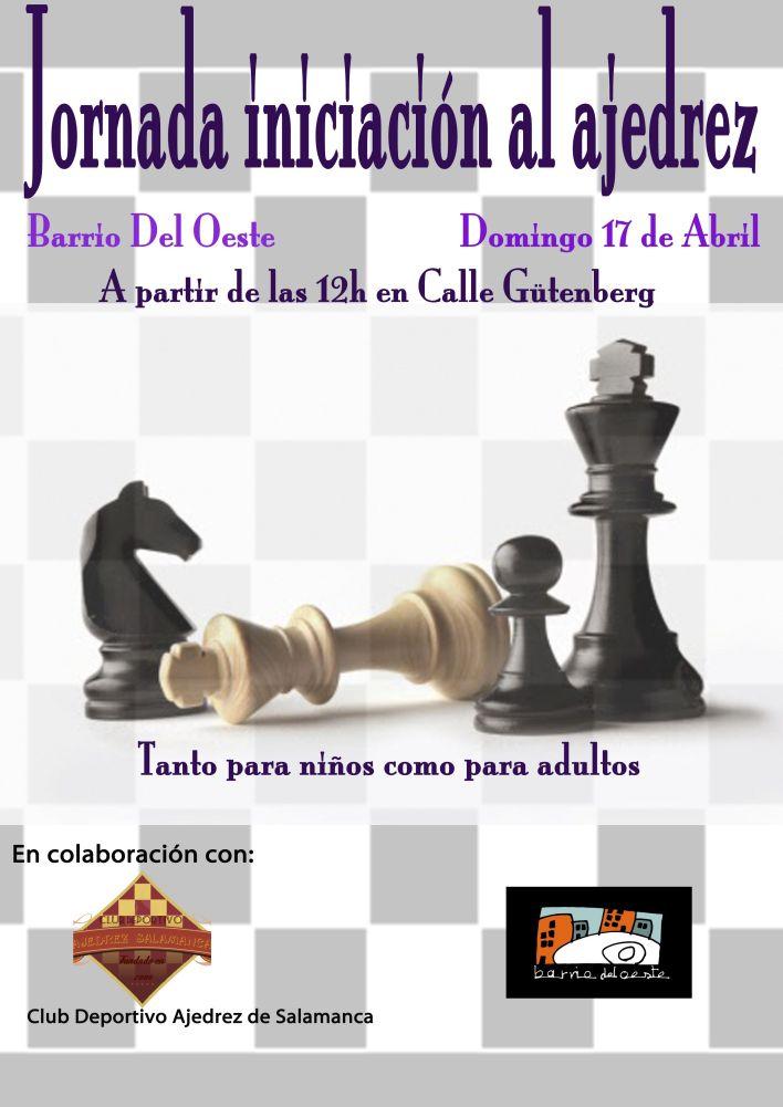 Cartel ajedrez iniciación
