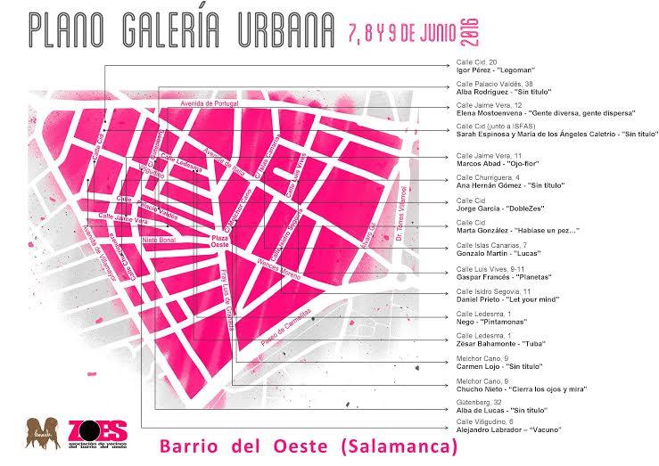 Plano guia Galeria Urbana 2016