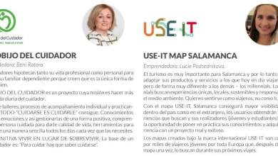 "Photo of Emprendedoras: Beni Ratero ""El cobijo del cuidador"", y Lucie Podsednikova ""USE-IT Map"" de Salamanca"