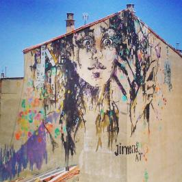 Obra de Jimena, en el Edificio Cultural de La Salchichería, Barrio del Oeste 7