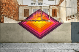 Obra de arte urbano por barrio del Oeste