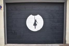 Obra de arte urbano en el barrio