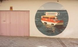 Crucero, detalle del mural