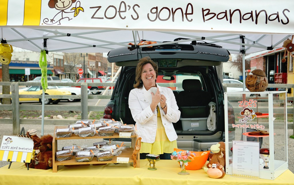 Zoe at the Farmers Market