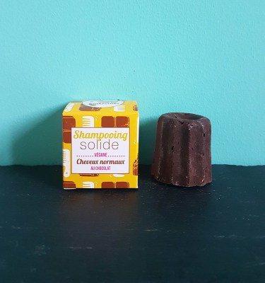 Shampoing solide au chocolat